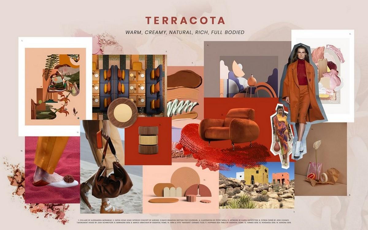 diseño de interiores Diseño de Interiores: Tendencias de colores para tú Hogar moodboard trends 2019 terracota 02