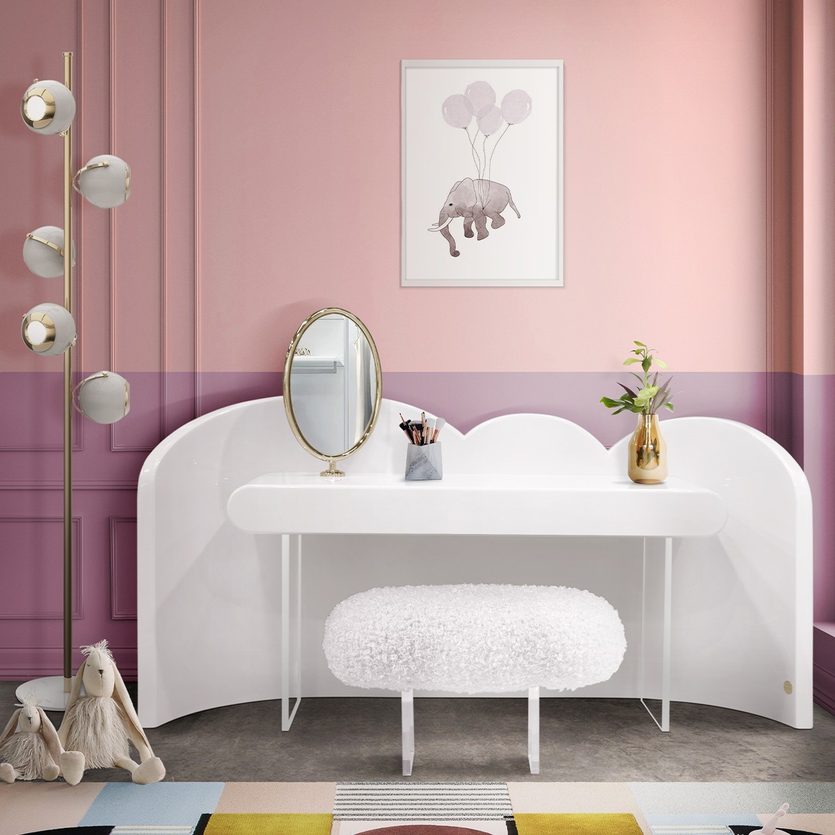 Consolas lujuosas: 7 piezas poderosas para un proyecto elegante consolas lujuosas Consolas lujuosas: 7 piezas poderosas para un proyecto elegante cloud dressing table vanity console circu magical furniture ambience 1