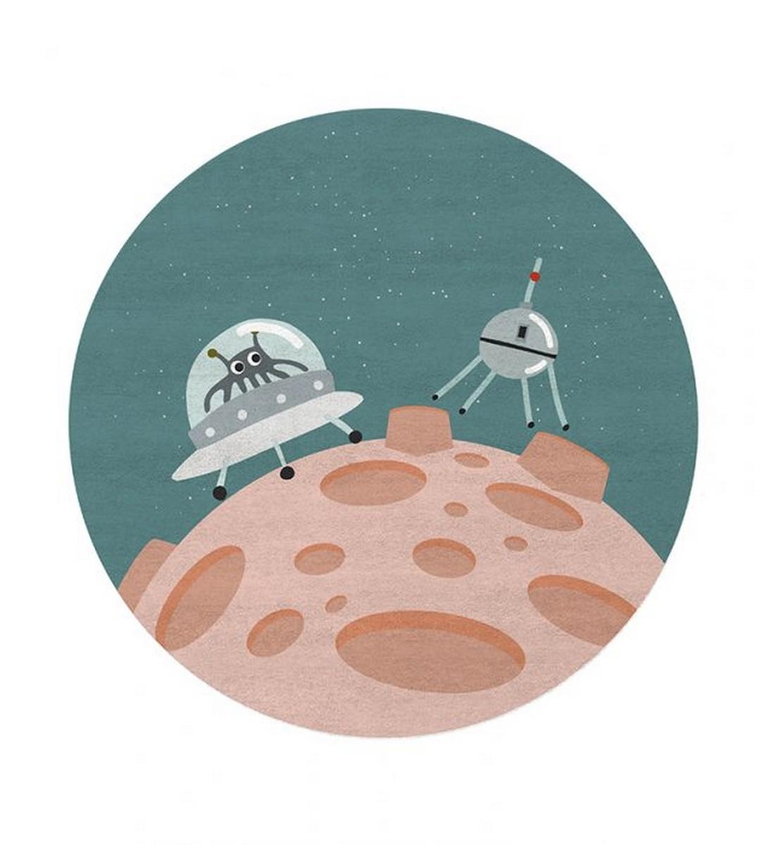 Diseño para niños: Nuevas Alfombras Mágicas por Circu diseño para niños Diseño para niños: Nuevas Alfombras Mágicas por Circu hello stranger round rug circu magical furniture 1