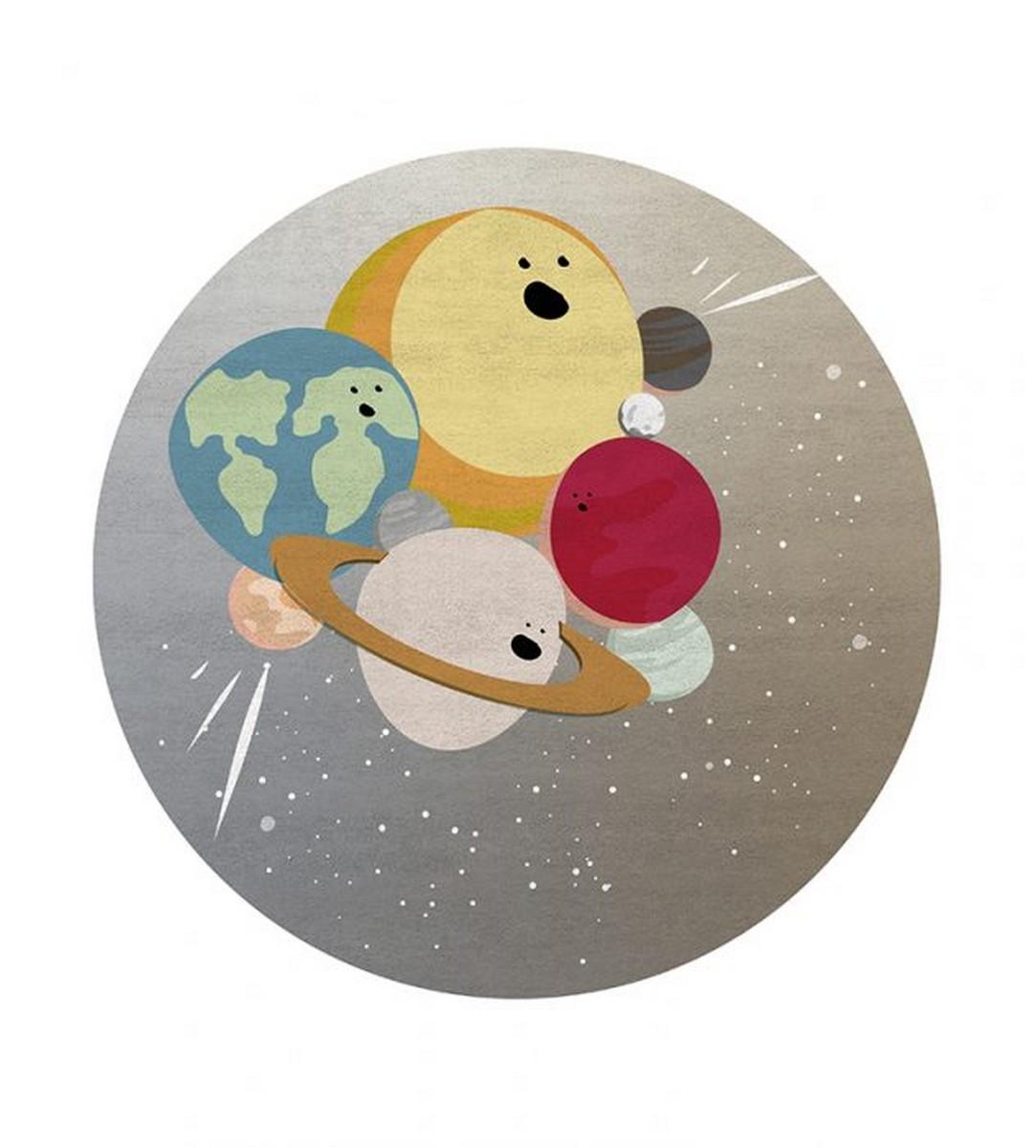 Diseño para niños: Nuevas Alfombras Mágicas por Circu diseño para niños Diseño para niños: Nuevas Alfombras Mágicas por Circu iv planets round rug circu magical furniture 2