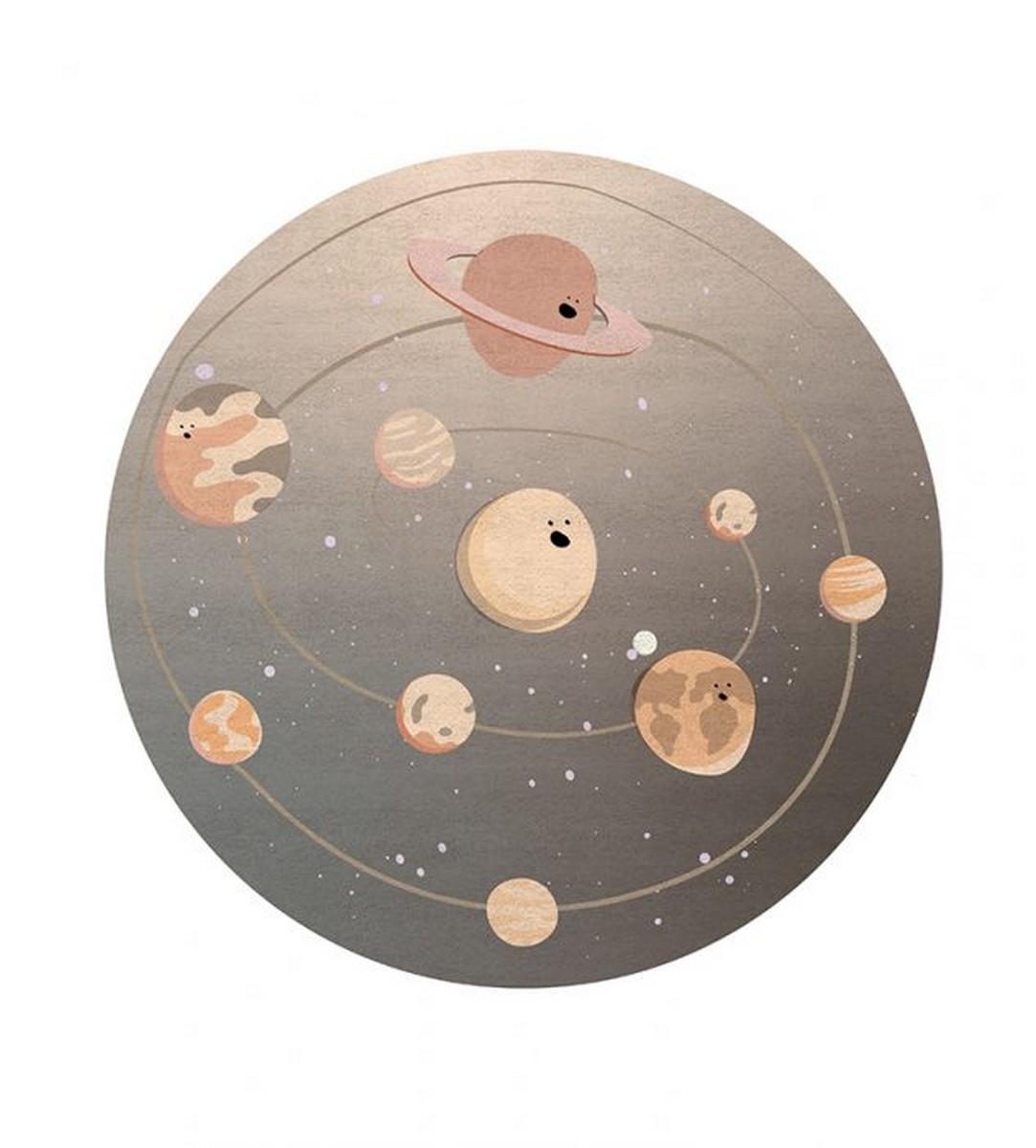 Diseño para niños: Nuevas Alfombras Mágicas por Circu diseño para niños Diseño para niños: Nuevas Alfombras Mágicas por Circu solar system rug circu magical furniture 1