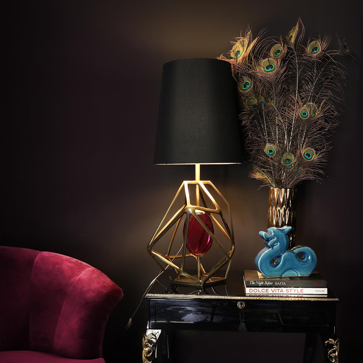 Lámparas de mesa: Ideas lujuosas para un proyecto elegante lámparas de mesa Lámparas de mesa: Ideas lujuosas para un proyecto elegante KOKET GEM TABLE LAMP 1