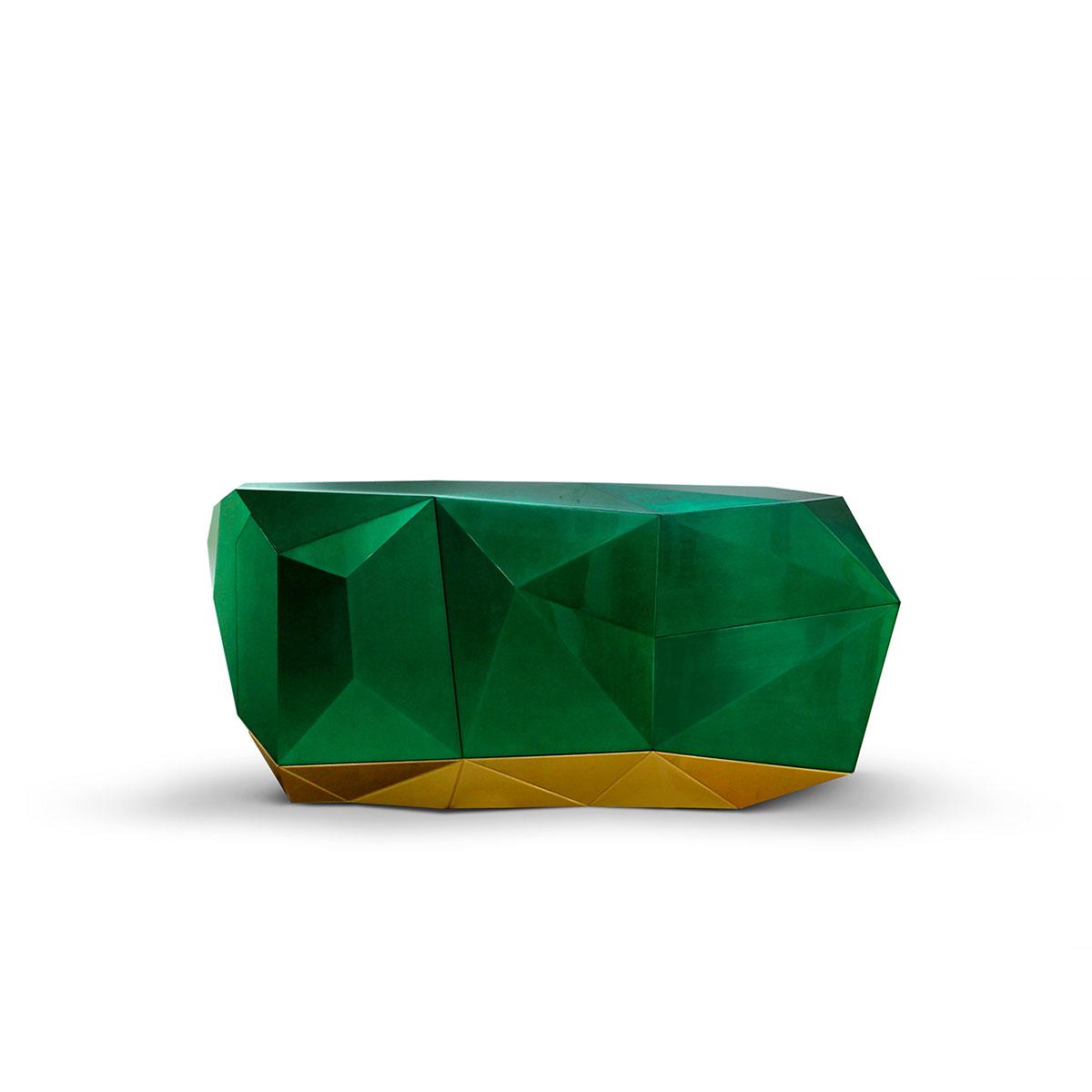 Aparadores Lujuosos: Ideas para poner en un proyecto exclusivo aparadores lujuosos Aparadores Lujuosos: Ideas para poner en un proyecto exclusivo diamond emerald sideboard boca do lobo 01