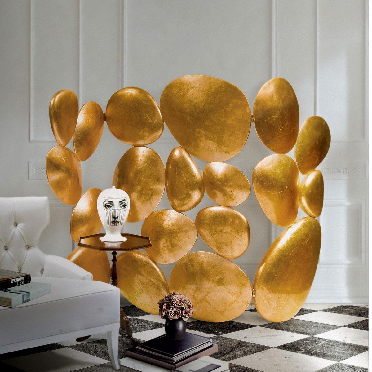 Pantallas Lujuosas: Ideas exclusivas para un proyecto moderno pantallas lujuosas Pantallas Lujuosas: Ideas exclusivas para un proyecto moderno gold folding screen boca do lobo 04