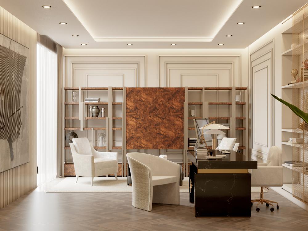 Oficina lujuosa del Ático Moderno y Contempóraneo de Millones oficina lujuosa Oficina lujuosa del Ático Moderno y Contempóraneo de Millones 1 1