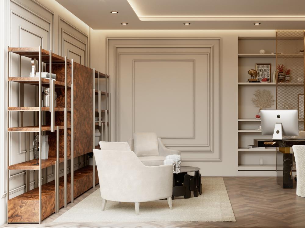 Oficina lujuosa del Ático Moderno y Contempóraneo de Millones oficina lujuosa Oficina lujuosa del Ático Moderno y Contempóraneo de Millones 2