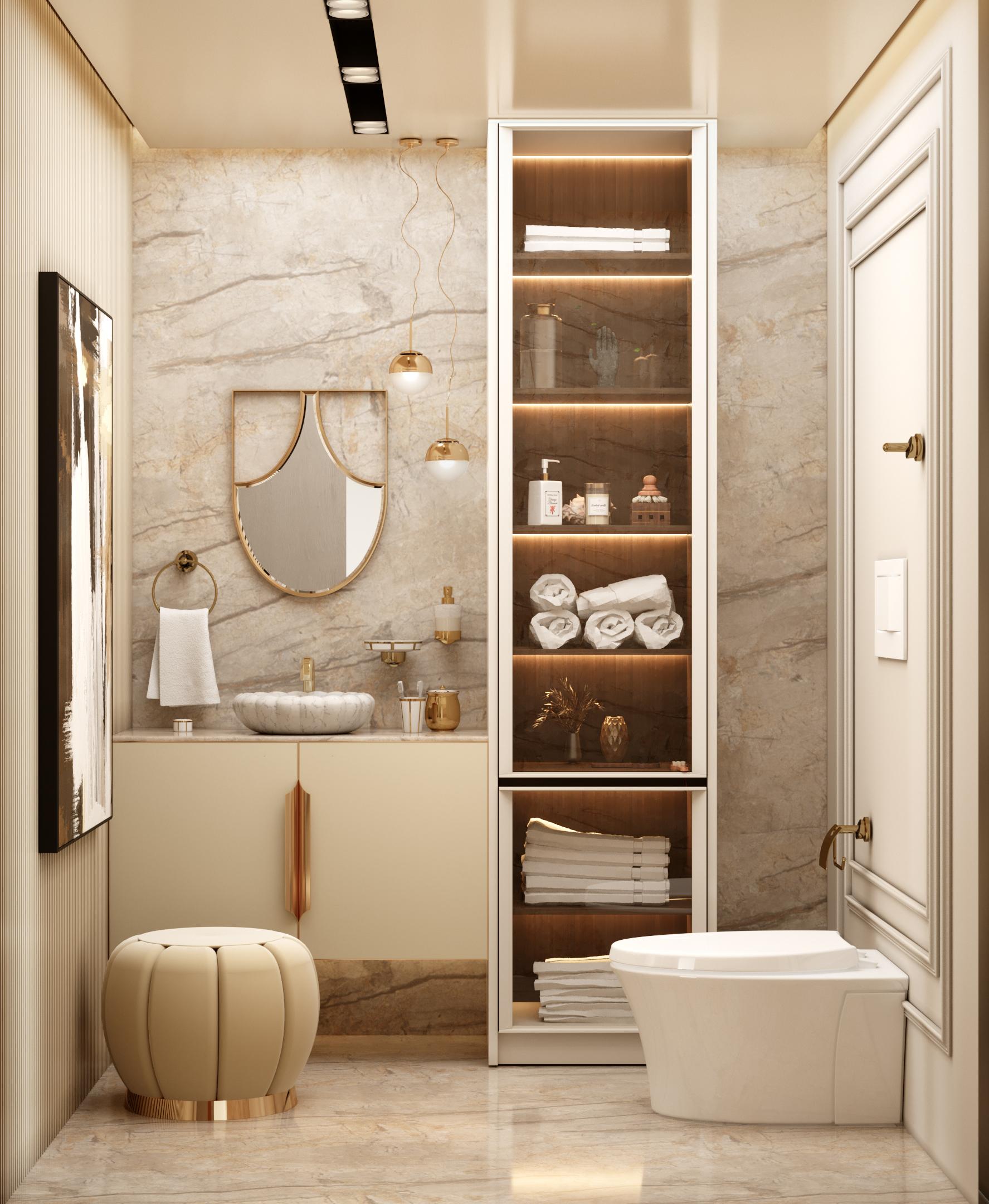 Baño poderoso del Ático Moderno y Contemporáneo de Millones baño poderoso Baño poderoso del Ático Moderno y Contemporáneo de Millones Bathroom 1