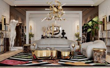 Sala de estar poderosa: Seleción de proyectos lujuosos para inspirar sala de estar poderosa Sala de estar poderosa: Seleción de proyectos lujuosos para inspirar office 3 357x220