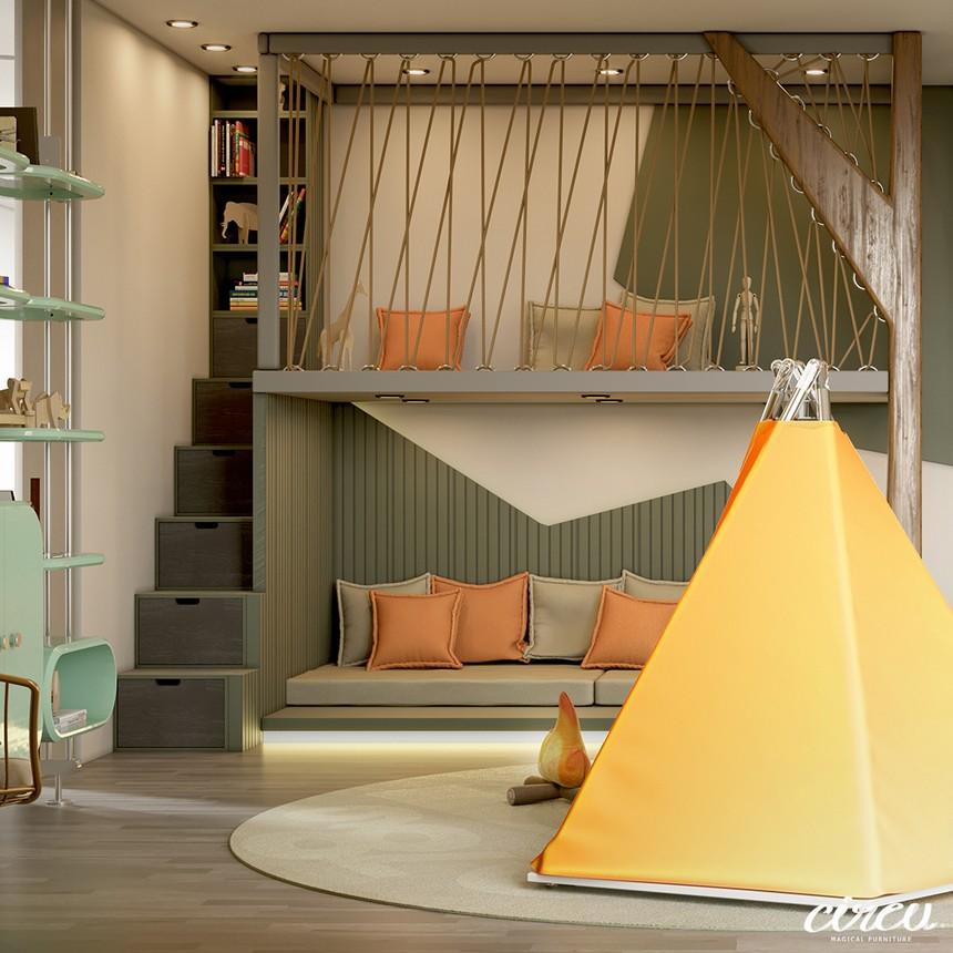 Proyecto lujuoso inspirado en la Naturaleza: Una Habitación para Niños excluiva proyecto lujuoso Proyecto lujuoso inspirado en la Naturaleza: Una Habitación para Niños exclusiva Kids Bedroom Projects A Jungle Inspired bedroom Youll Love 1