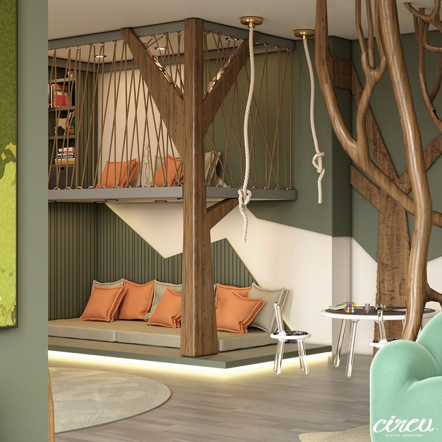 Proyecto lujuoso inspirado en la Naturaleza: Una Habitación para Niños exclusiva proyecto lujuoso Proyecto lujuoso inspirado en la Naturaleza: Una Habitación para Niños exclusiva Kids Bedroom Projects A Jungle Inspired bedroom Youll Love 15