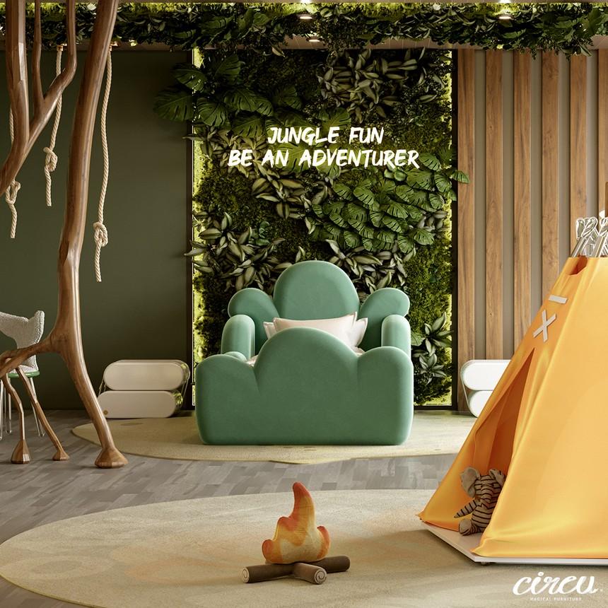 Proyecto lujuoso inspirado en la Naturaleza: Una Habitación para Niños excluiva proyecto lujuoso Proyecto lujuoso inspirado en la Naturaleza: Una Habitación para Niños exclusiva Kids Bedroom Projects A Jungle Inspired bedroom Youll Love 9