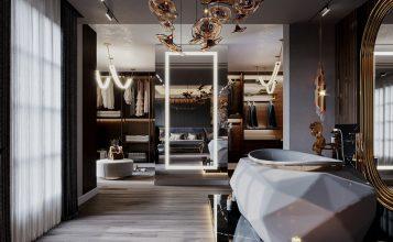 Interiores Lujuosos: Un Ático clásico y moderno Diseñado por K.A. Interior Design interiores lujuosos Interiores Lujuosos: Un Ático clásico y moderno Diseñado por K.A. Interior Design 4 357x220