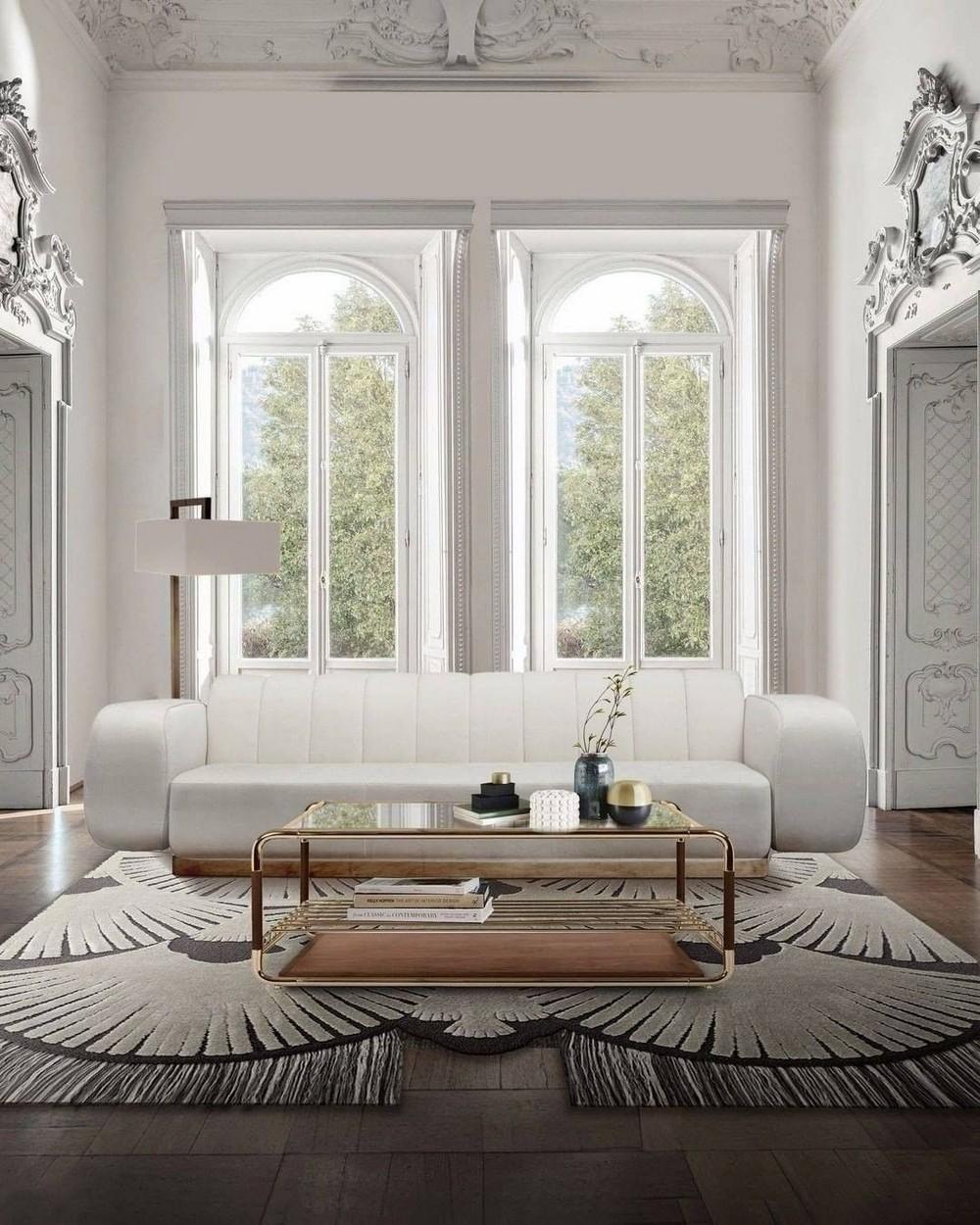 Sala de estar lujuosas: Inspiraciónes con un Diseño de Interior moderno