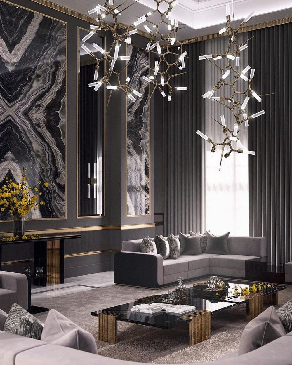 Sala de estar lujuosa: Inspiraciónes con un Diseño de Interior moderno