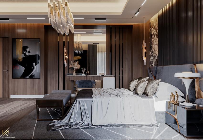 Ático Moderno y lujuoso en Riad creado por K.A. Interior Design Ático moderno Ático Moderno y lujuoso en Riad creado por K.A. Interior Design bedroom