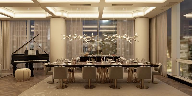 Ático Moderno en Nueva Yorque: Diseño de interiores de lujo Ático moderno Ático Moderno en Nueva Yorque: Diseño de interiores de lujo dining