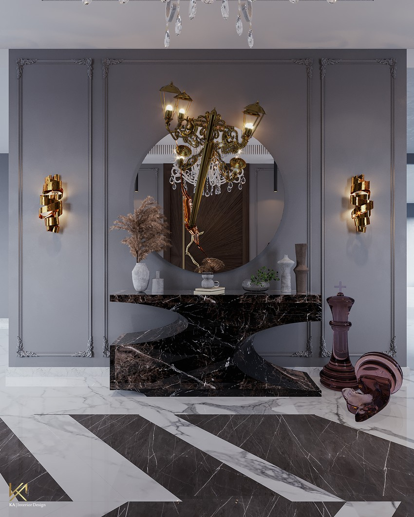 Ático Moderno y lujuoso en Riad creado por K.A. Interior Design  Ático moderno Ático Moderno y lujuoso en Riad creado por K.A. Interior Design entryway