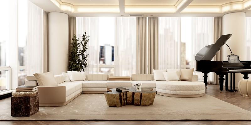 Ático Moderno en Nueva Yorque: Diseño de interiores de lujo Ático moderno Ático Moderno en Nueva Yorque: Diseño de interiores de lujo living