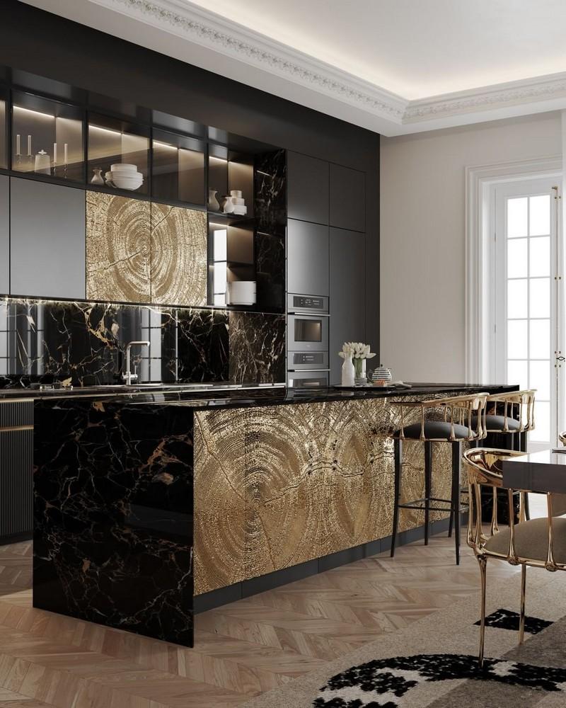 Cocinas Lujuosas: Inspiraciones y ideas para un proyecto elegante  cocinas lujuosas Cocinas Lujuosas: Inspiraciones y ideas para un proyecto elegante modern kitchen decor ideas for 2021 1
