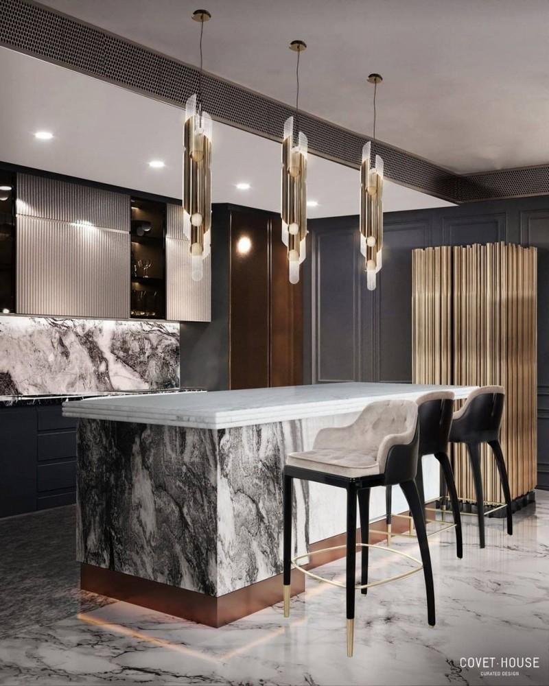 Cocinas Lujuosas: Inspiraciones y ideas para un proyecto elegante cocinas lujuosas Cocinas Lujuosas: Inspiraciones y ideas para un proyecto elegante modern kitchen decor ideas for 2021 2