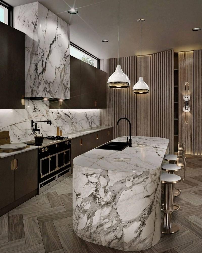 Cocinas Lujuosas: Inspiraciones y ideas para un proyecto elegante  cocinas lujuosas Cocinas Lujuosas: Inspiraciones y ideas para un proyecto elegante modern kitchen decor ideas for 2021 3