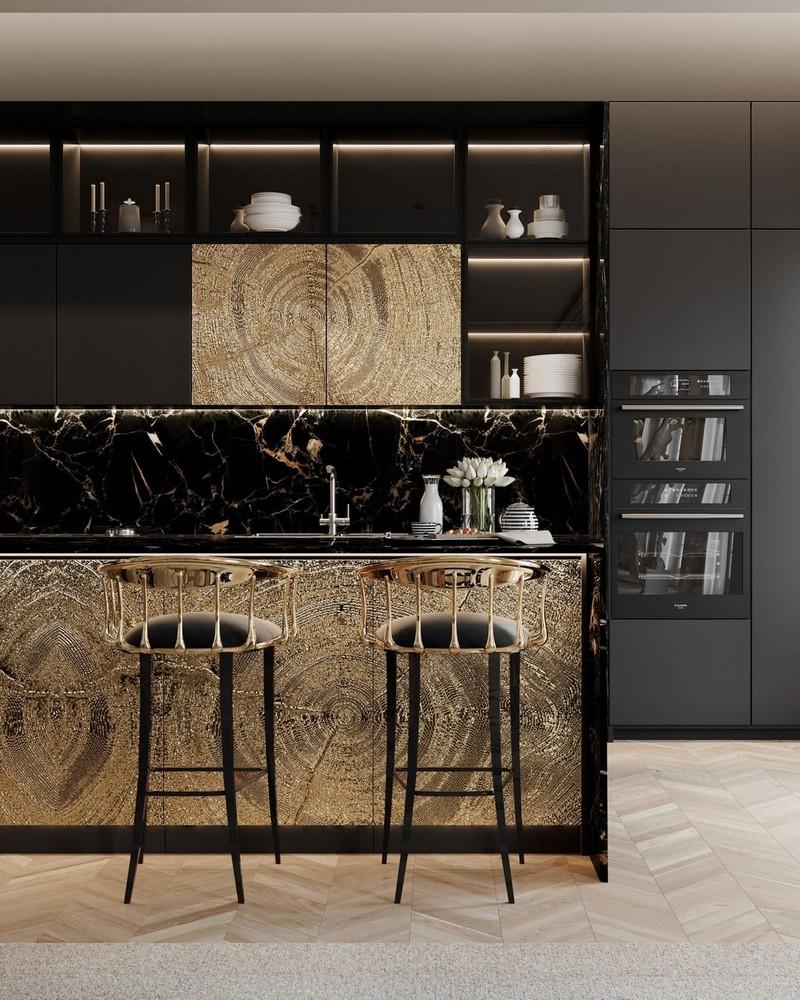 Cocinas Lujuosas: Inspiraciones y ideas para un proyecto elegante  cocinas lujuosas Cocinas Lujuosas: Inspiraciones y ideas para un proyecto elegante modern kitchen decor ideas for 2021 5