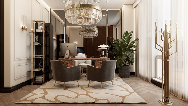 Ático Moderno en Nueva Yorque: Diseño de interiores de lujo Ático moderno Ático Moderno en Nueva Yorque: Diseño de interiores de lujo office
