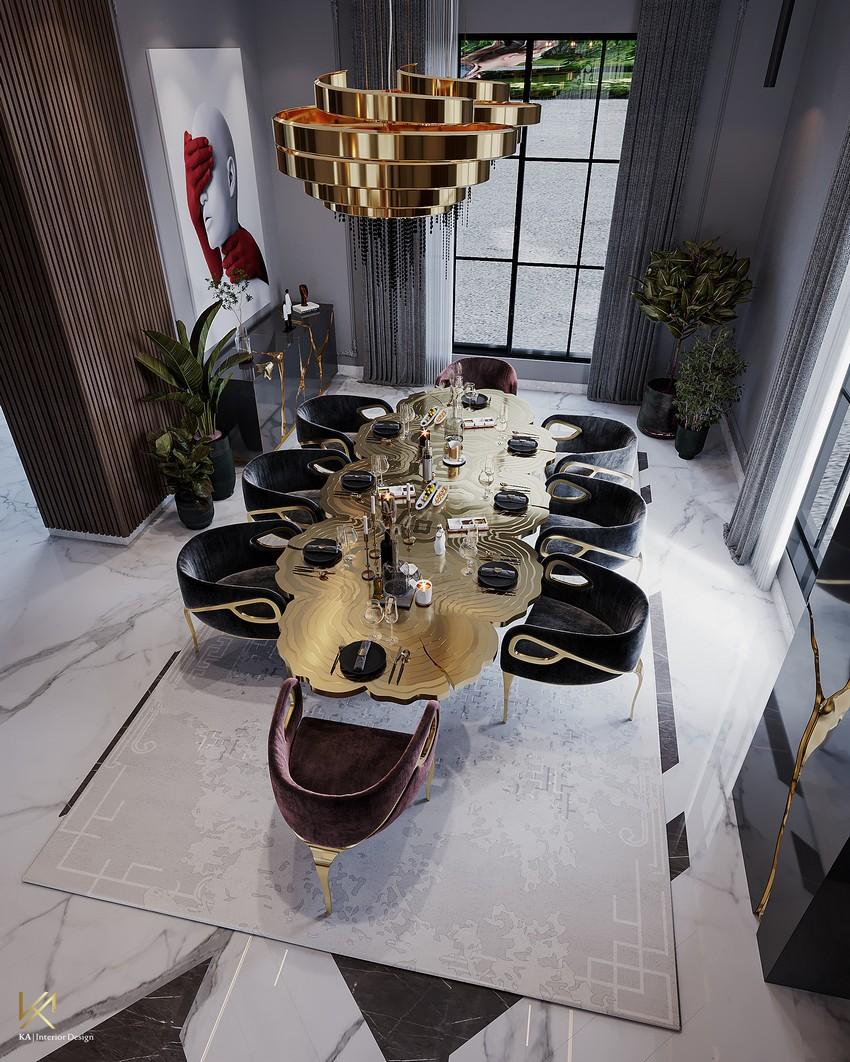 Sala de Comedor Clásico, Moderno, lujuosao y Opulente en Riad sala de comedor Sala de Comedor Clásico, Moderno, lujuoso y Opulente en Riad DiningEntryway 3