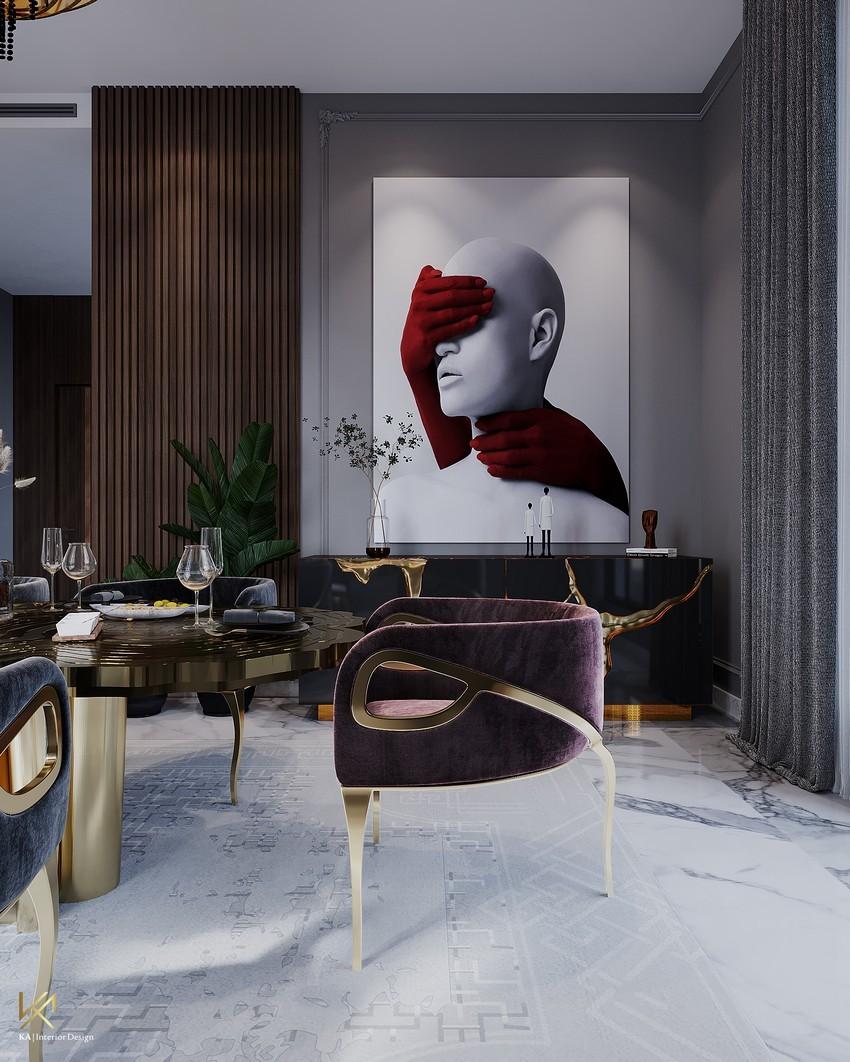 Sala de Comedor Clásico, Moderno, lujuosao y Opulente en Riad sala de comedor Sala de Comedor Clásico, Moderno, lujuoso y Opulente en Riad DiningEntryway 7
