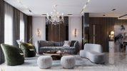 Sala de estar clásica, moderna, lujuosa y opulente en Riad sala de estar Sala de estar clásica, moderna, lujuosa y opulente en Riad Living Room 1 178x100