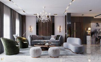 Sala de estar clásica, moderna, lujuosa y opulente en Riad sala de estar Sala de estar clásica, moderna, lujuosa y opulente en Riad Living Room 1 357x220