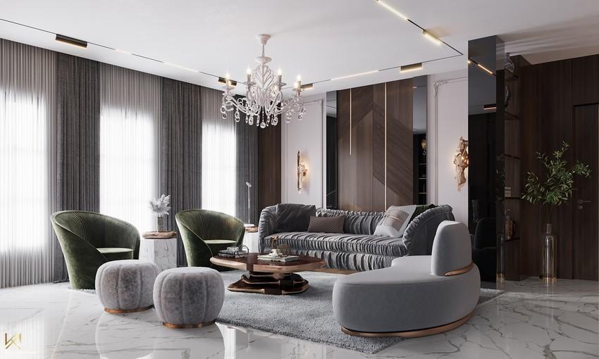 Sala de estar clásica, moderna, lujuosa y opulente en Riad sala de estar Sala de estar clásica, moderna, lujuosa y opulente en Riad Living Room 5