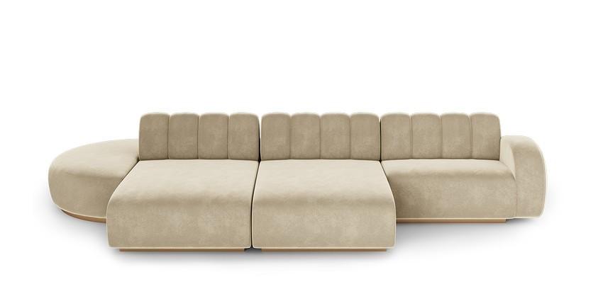 Diseño de Interiores poderosos: Lujo con 5 Diseños de Sofá para el confort del proyecto diseño de interiores Diseño de Interiores elegante : Lujo con 5 Diseños de Sofas cassia modular sofa 1