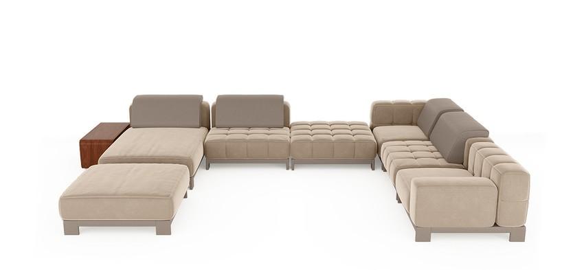 Diseño de Interiores poderosos: Lujo con 5 Diseños de Sofá para el confort del proyecto diseño de interiores Diseño de Interiores elegante : Lujo con 5 Diseños de Sofas excelsa modular sofa 1