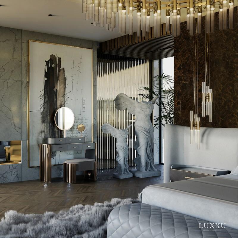Dormitorios lujuosos: Diseños de Interiores elegantes, poderosos y perfectos