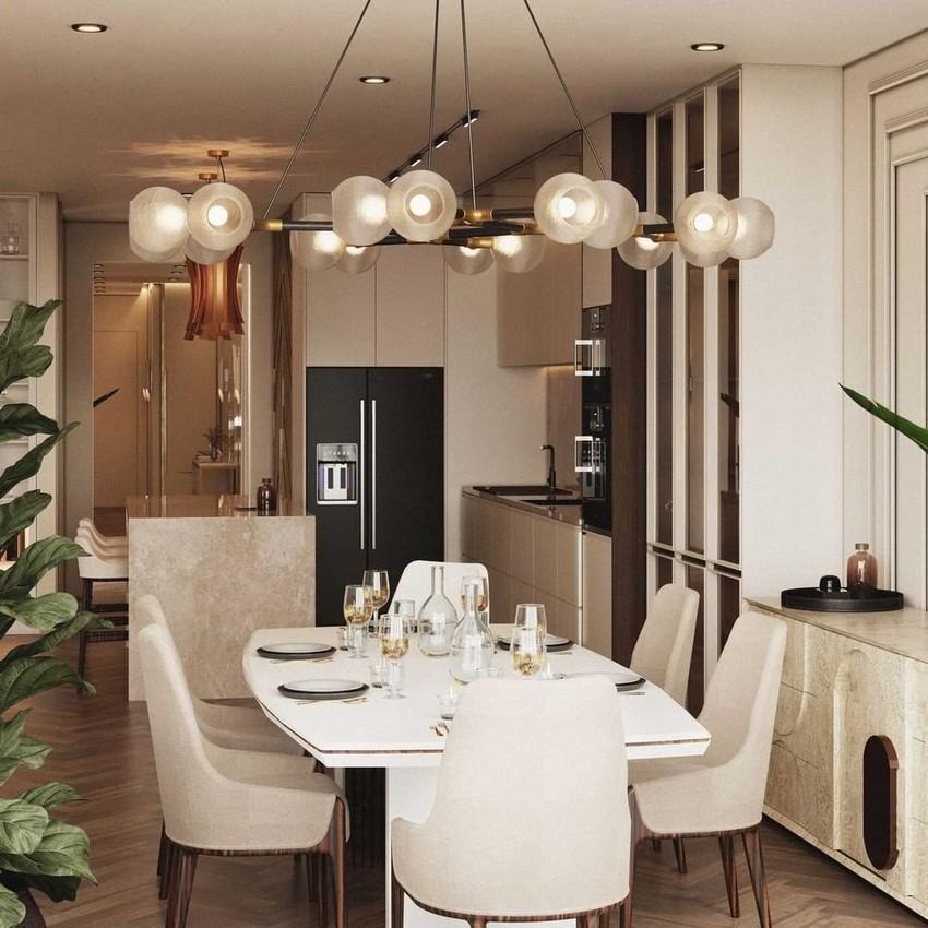Diseño Moderno de Cocinas y Comedores con un estilo elegante