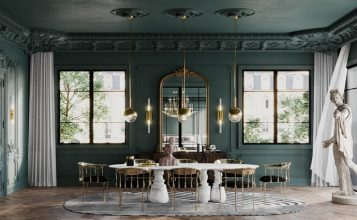 Comedor lujuoso: Covet House vs Sarah Habib un proyecto de una casa poderosa