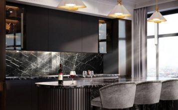 Diseño de Interiores moderno: ideas de Cocina y Comedor lujuosas