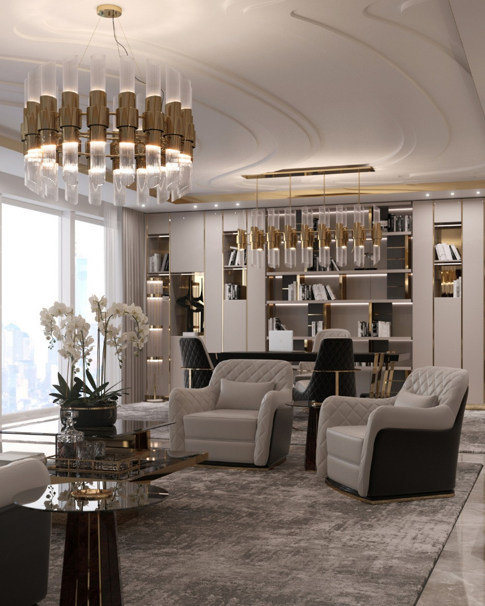 Sala de estar: Inspiraciónes de Diseño de interiores lujuoso