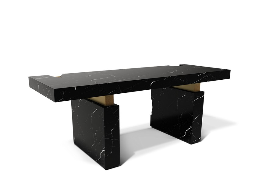 Oficina Moderna: Una mesa moderna de Caffe Latte para Interiores poderosos